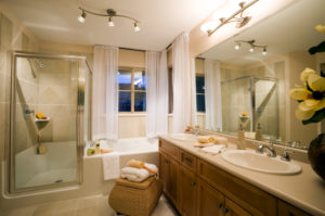 modern new bathroom renovate bathtub sink