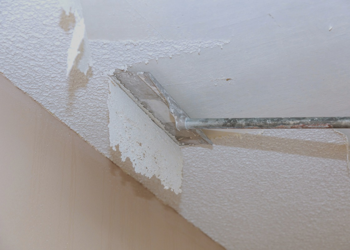 How much work is it to remove that popcorn ceiling ...